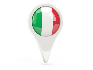 Round flag icon of italy