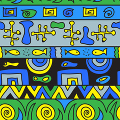 Tribal color seamless pattern