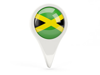 Round flag icon of jamaica