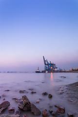 harbor in night