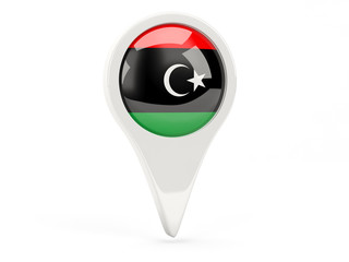 Round flag icon of libya