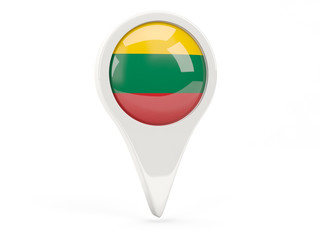 Round flag icon of lithuania