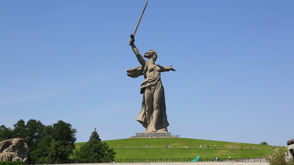 monument of Motherland Calls in Mamayev Kurgan memorial complex