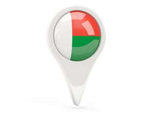 Round flag icon of madagascar