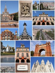 Barcelona collage - travel photos