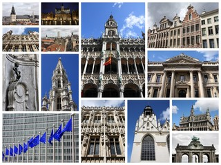 Brussels - travel photos collage
