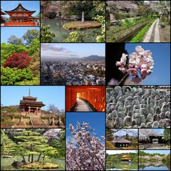 Kyoto - travel photos collage