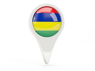 Round flag icon of mauritius