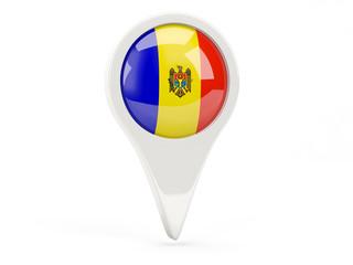 Round flag icon of moldova