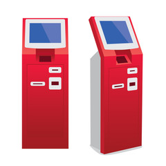 vector illustration of ATM