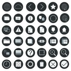 Icon set internet vector illustration