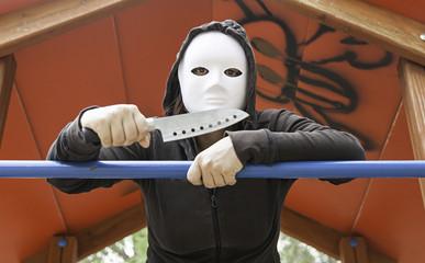 Murderer in mask Park