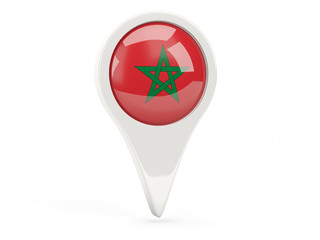 Round flag icon of morocco