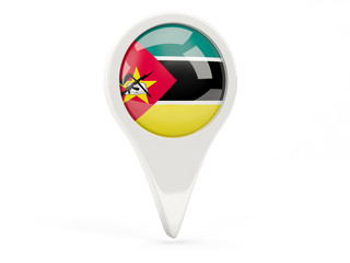 Round flag icon of mozambique