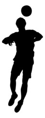 Silhouette Basketball Player Over White Background