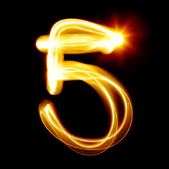 Created by light numerals