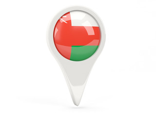 Round flag icon of oman