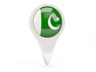Round flag icon of pakistan