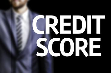 Credit Score written on a board