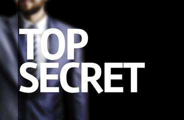 Top Secret written on a board