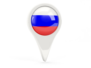 Round flag icon of russia