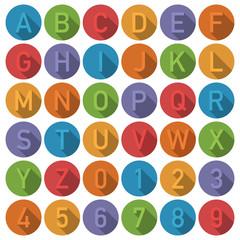 round alphabet icons