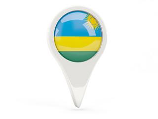 Round flag icon of rwanda