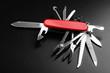 Leinwanddruck Bild - Pocket Swiss knife fully opened