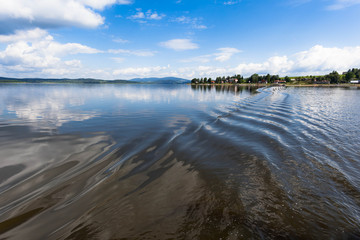 View of the artificial lake of Lipno in the Czech Republic