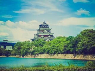 Retro look Hiroshima Gokoku Shrine