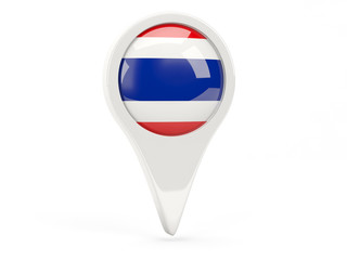 Round flag icon of thailand