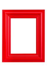Roter Holzbilderrahmen - Red wooden picture frame