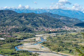 Lunigiana area of Italy, north Tuscany. Beautiful rural landscap