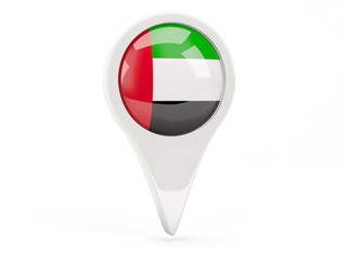 Round flag icon of united arab emirates