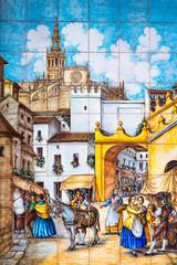 Sevilla, Fliesenmalerei