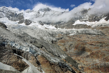 Fee Gletscher. Saas-Fee. Schweiz