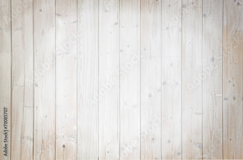 canvas print picture Rustikale helle Holzwand mit Spotlight