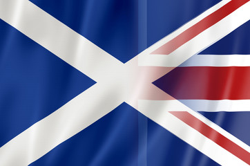 Flags of Scotland & Great Britain