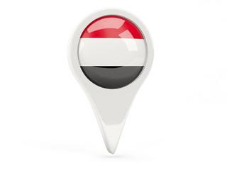 Round flag icon of yemen