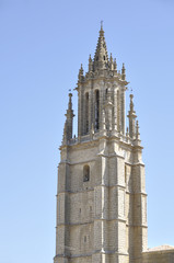 Tower of a church in Gothic-Renaissance style