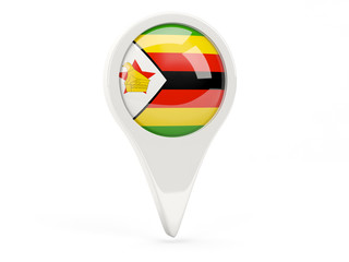Round flag icon of zimbabwe