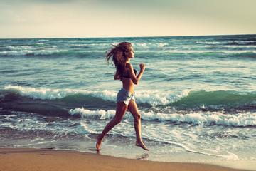 active on beach