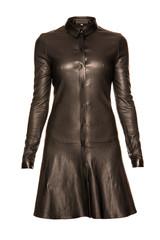 черное кожаное платье