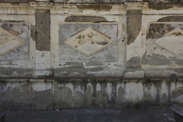 Caserta Royal Palace garden decaying wall
