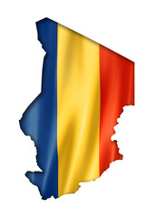 Chad flag map