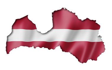 Latvian flag map