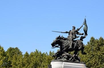 Statue de Jeanne d'Arc à Chinon