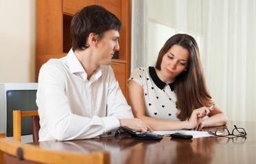 Quarrel because of financial documents