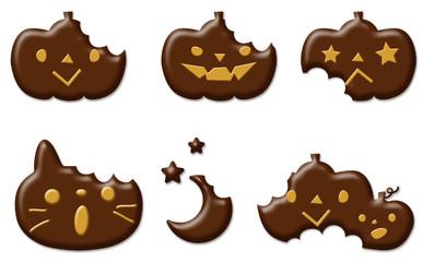 ハロウィンクッキー チョコレートがけ かじられ
