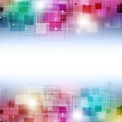 Abstract Technology Multicolor Background